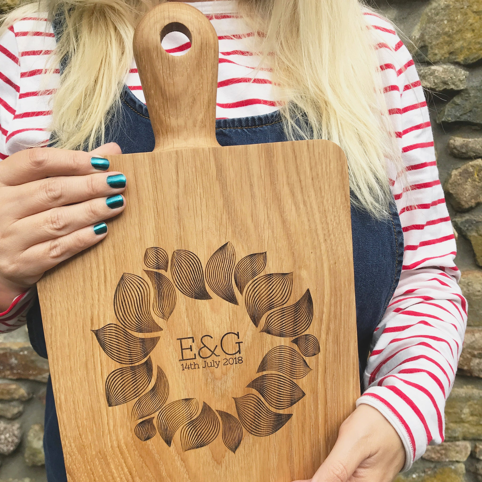 Personalised Oak Cheese Board