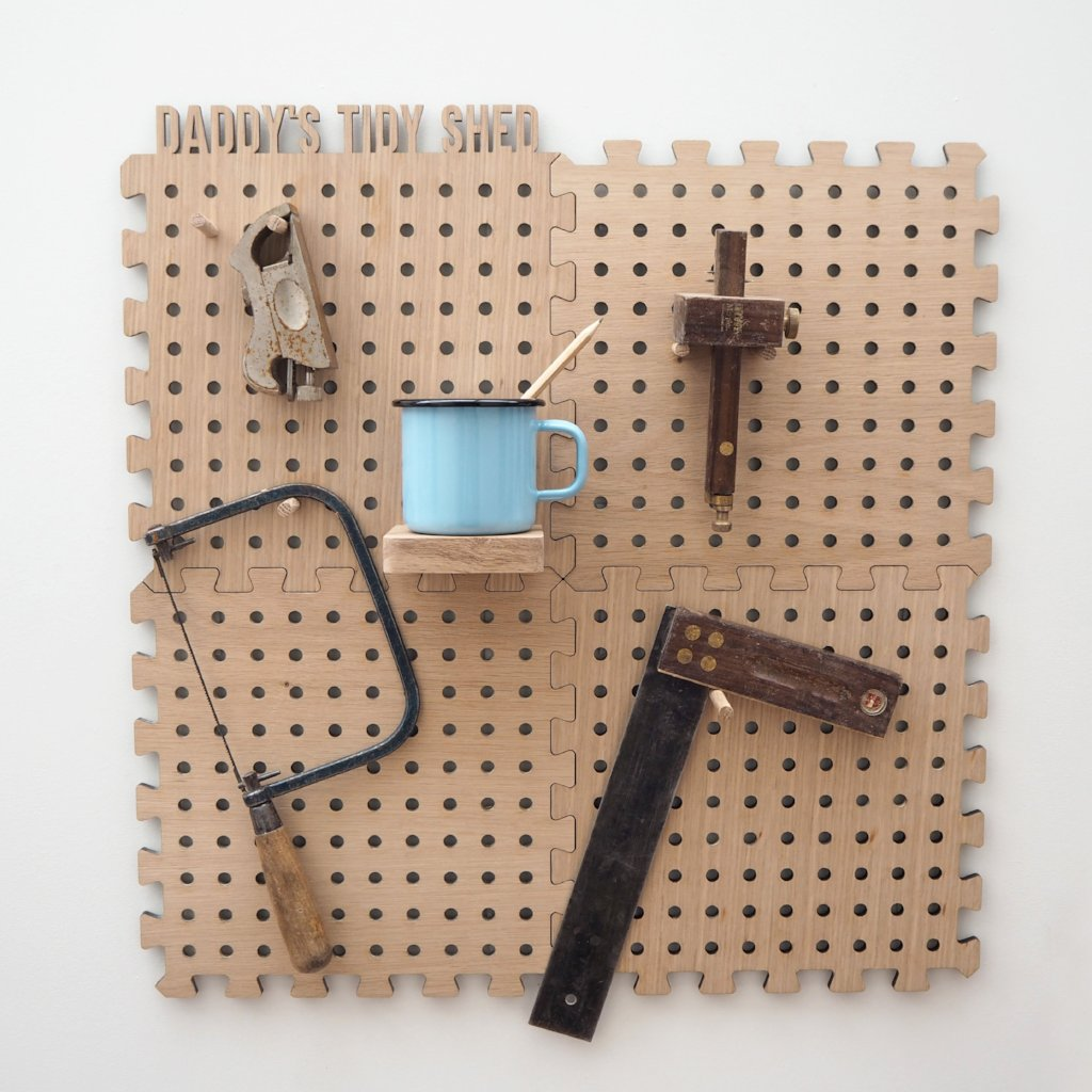 peg board tidy