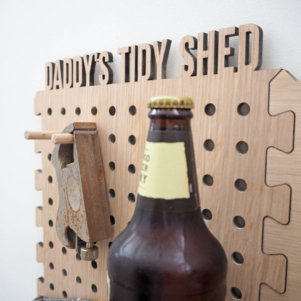 Personalised Peg Board For Dad's Shed