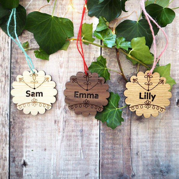 Personalised Scandi Cookie Wooden Name Hanger
