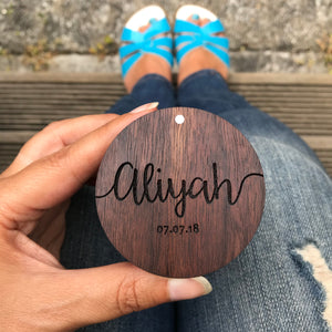 Personalised walnut wood engraved ring box