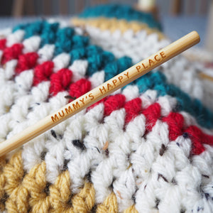 Happy Place Personalised Crochet Hook