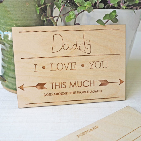Child's Handwriting Personalised Wooden Postcard