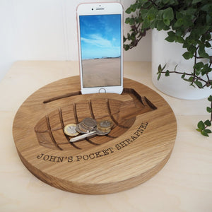 Personalised Grenade Wooden Bowl and Desk Tidy