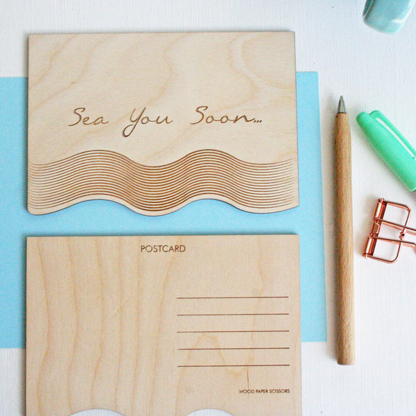 Wooden Postcard - Sea You Soon