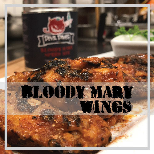Devil Daves GRILLED!  Bloody Mary Chicken Wing Recipe - Photo Recipe