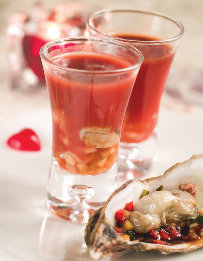 Bloody Mary oyster shooter recipe
