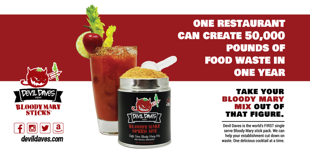 how to reduce waste behind bar restaurant bloody mary mix
