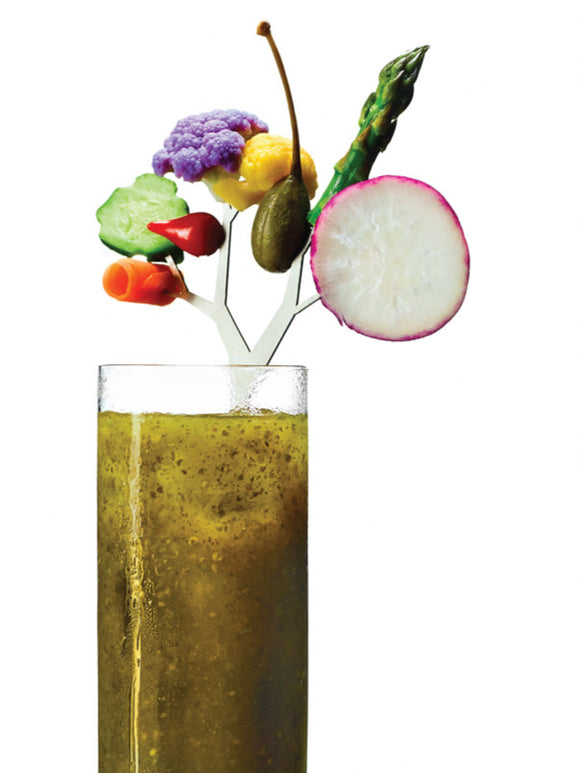 Bloody-Mary-garnish-trees-cocktail-stirrers- vegetable holder