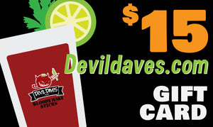 Devil Daves Gift Card & Envelope | Devildaves.com