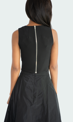 Black Escalope Polly Top