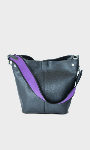 Canvas Purple Strap Handbag