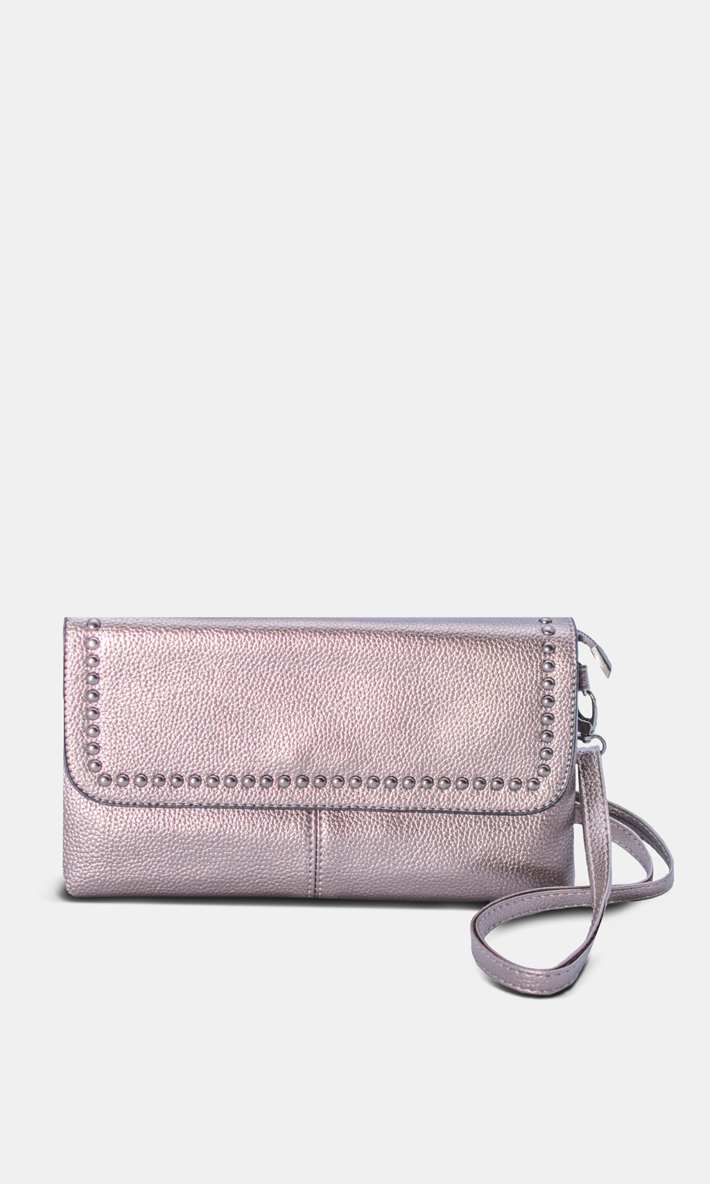 Clutch or Cross Body, Two Way with Metallic
