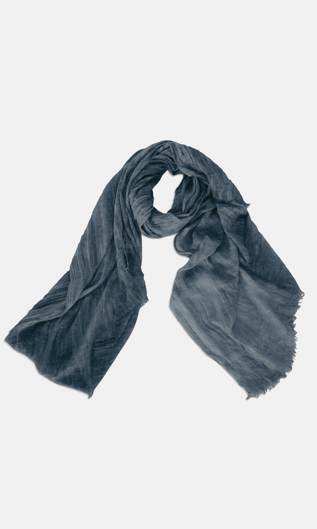 Plain Black Crinkle Scarf