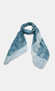 Viscose Cheese Cloth Scarf in Aqua