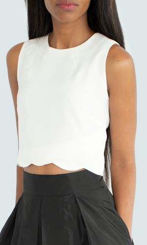 White Escalope Polly Top
