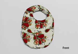 1 x Red Drops/Firecracker Reversible Buba Bib