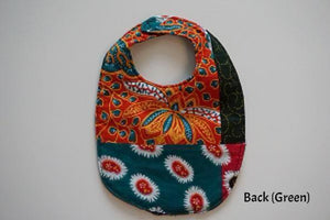 1 x Peacock Glory/Golden Feathers Reversible Buba Bib