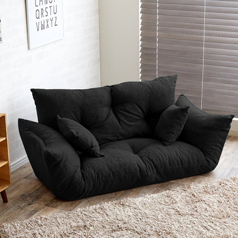 Modern Folding Sofa With Reclining Back and Armrest