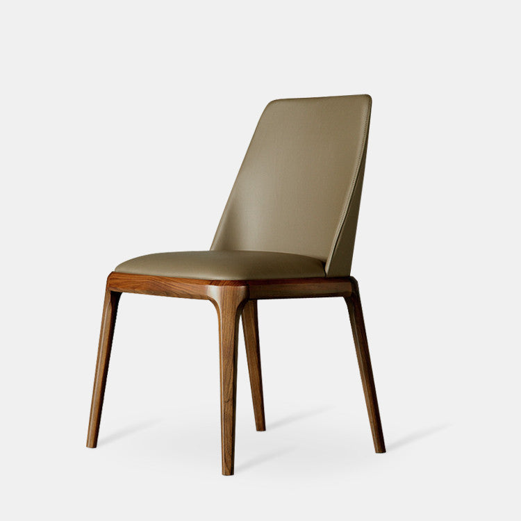 Modern Dining Chair Armchair  With Leather Upholstery
