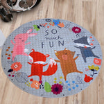Cars  Fox Toys Storage Bag Kids Game Mats diameter 146cm baby Crawling multifunctional round blanket Play Rug Mat