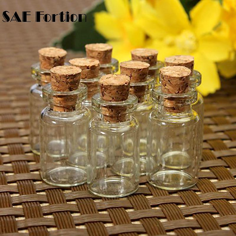Beautiful Wish Bottle With Cork Stopper 10pcs/set