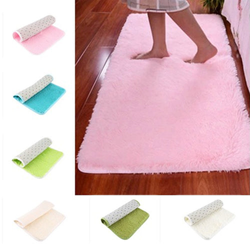 2017 New Candy Color Soft Anti-Skid Carpet Flokati Shaggy Rug Living Bedroom Floor Mat 169WG07
