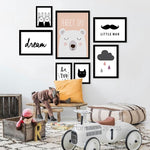 Nordic Animals Nursery Wall Art Canvas Painting Wall Pictures For Living Room Posters and Prints Cartoon Kid Poster Unframed