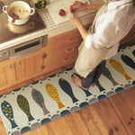 Fish Door Mat Alfombras Hall Bathroom KitchenHome Rug Absorbent Non-slip Coral Velvet Mats Carpet Strips tapete 3 Sizes DD-1