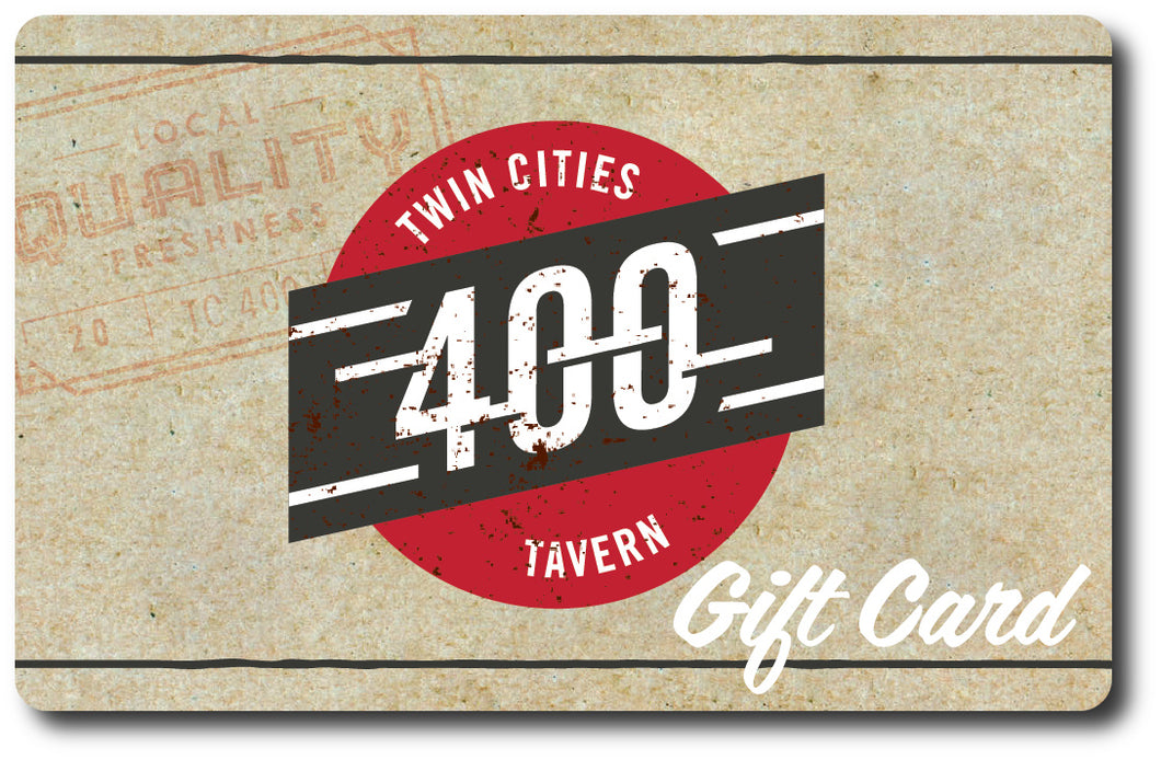 Twin Cities 400 Tavern Gift Card