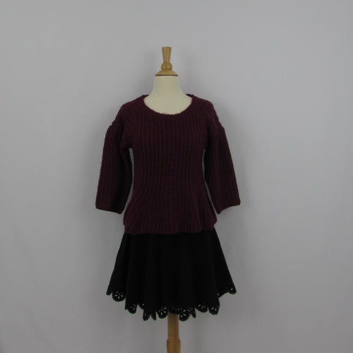 Ank Rouge Burgundy Sweater