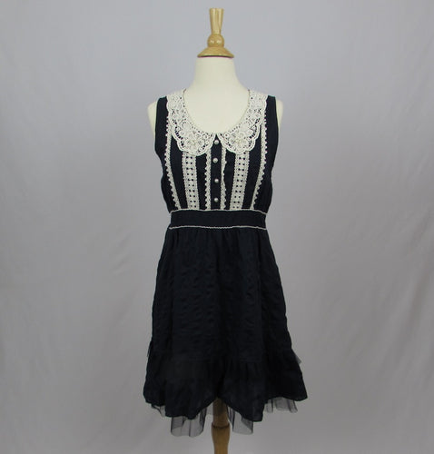 Axes Femme Navy & Lace Dress - Cherry Cordial
