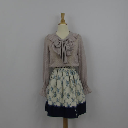 Lodispotto Blue Floral Skirt