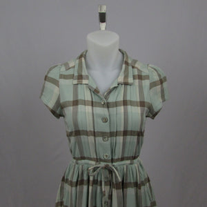 Dazzlin Retro Plaid Dress - Cherry Cordial