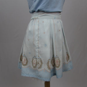 Ank Rouge Blue Mermaid Print Skirt - Cherry Cordial