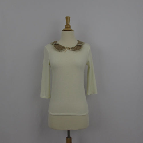 Allamanda Cream Knit Top