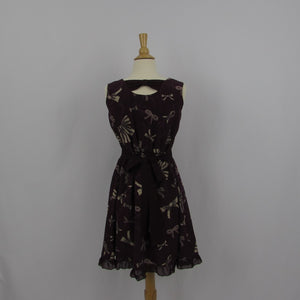 Axes Femme Burgundy Bows Dress