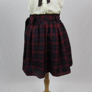Colza Plaid Skirt - Cherry Cordial