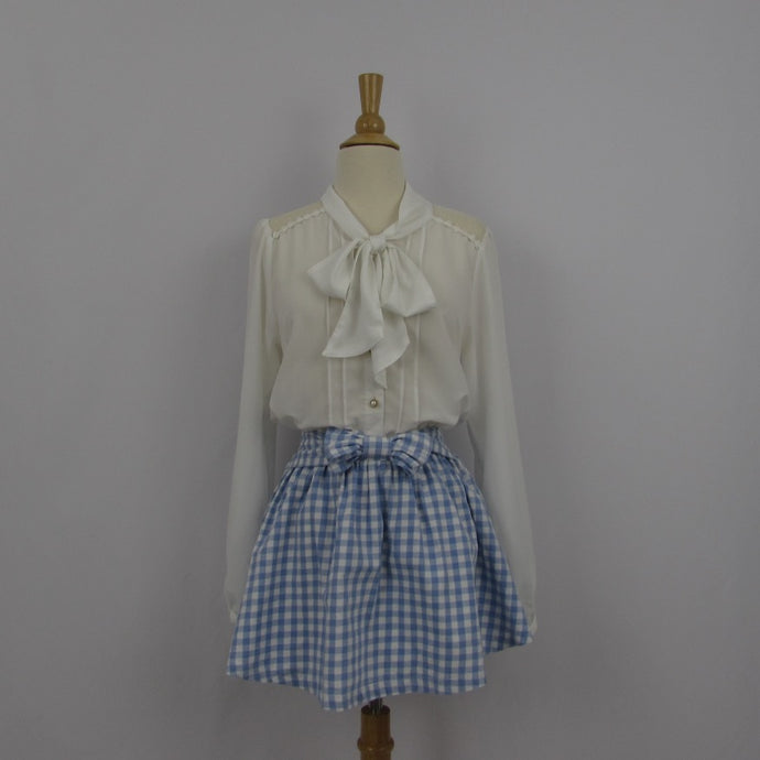 Colza Gingham Mini Skirt