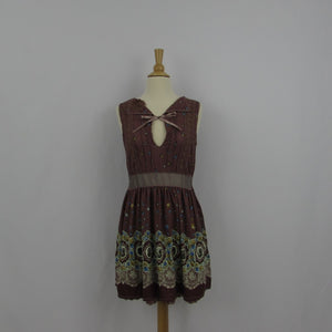Axes Femme Brown Floral Dress