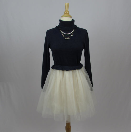 Liz Lisa Navy & Tulle Dress - Cherry Cordial
