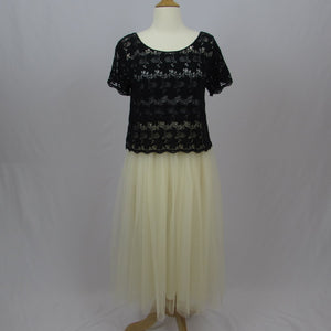 Tralala Knit & Tulle Dress NWT - Cherry Cordial