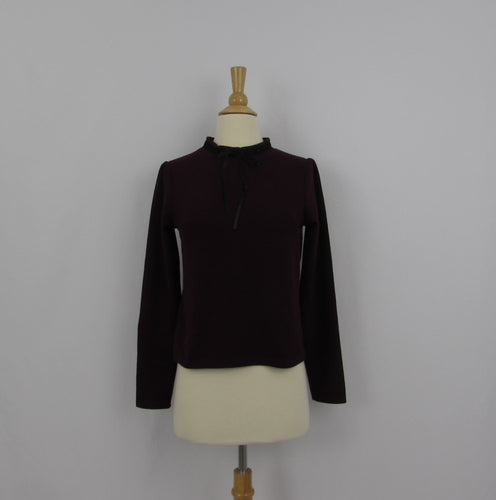 Evelyn Burgundy Knit Top