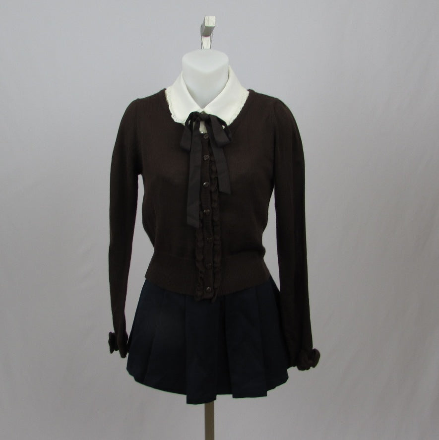 Ank Rouge Brown Cardigan - Cherry Cordial