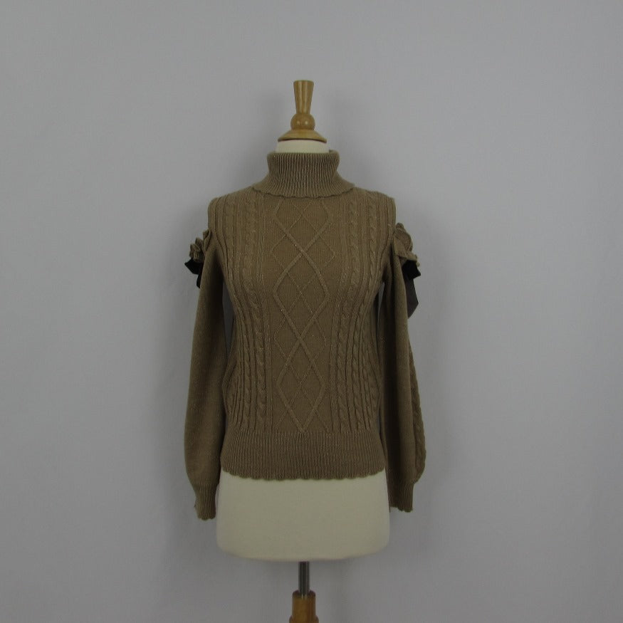 Axes Femme Shimmery Gold Sweater