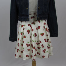 Ank Rouge White Berry Love Skirt - Cherry Cordial