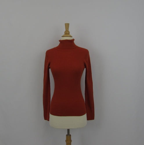 Lautreamont Orange Turtleneck