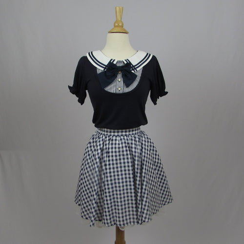 Ank Rouge Gingham Skirt - Cherry Cordial