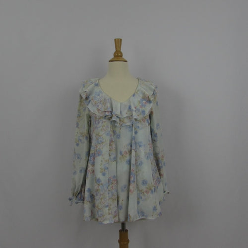 Liz Lisa Blue Floral Tunic Top