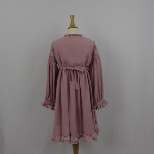 Dusty Pink Baby Doll Dress